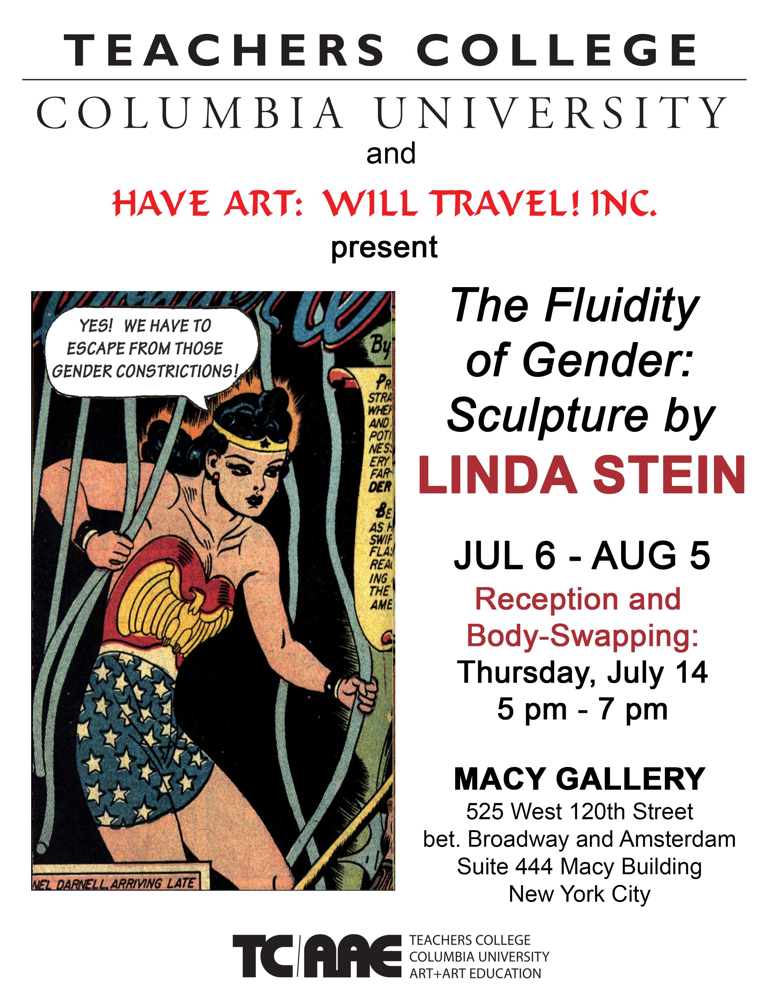 MACY GALLERY RECEPTION | The Fluidity of Gender: Sculpture by Linda Stein