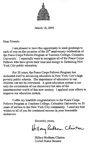 Hillary Clinton Letter of Support Thumbnail