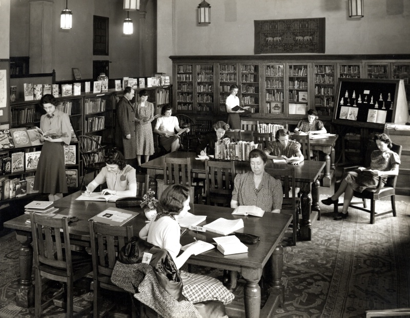 Russell hall school library laboratory