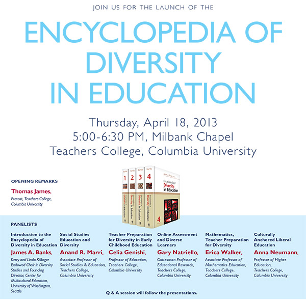 Launch of the encyclopedia of diversity in education
