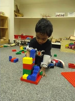 Hari with legos