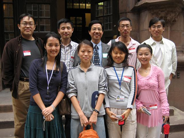 2006 new students with Professor Tsang