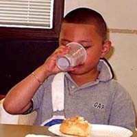 Child drinking from a cup