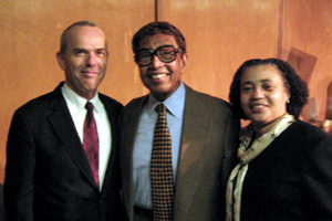 In the Photo: Dr. Billy Taylor (center) with Dr. Hal Ables (left) and Janice Robinson (right).