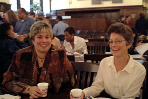 In the Photo: Marianne Tramelli, Director of Career Services, and Ena Haines, Director of nformation Technology.