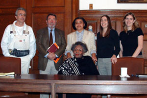 In the Photo: Adelaide L. Sanford meets with members of the CCD.