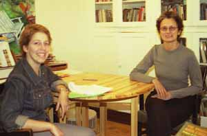 In the photo (from left to right): Diversity Fellow Leanne Stahnke and mentor Dr. Nancy Lesko