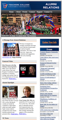 2013 Alumni Newsletters