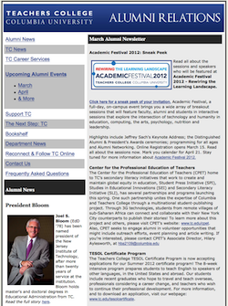 2012 Alumni Newsletters