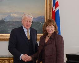 Olafur Ragnar Grimsson and Susan H. Fuhrman