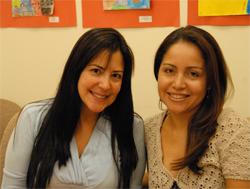 Marie Sarabia and Alexandra Espinosa