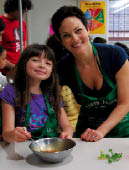 Ellie Krieger and her daughter