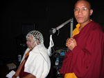 Buddhist monks visit Neurocognition of Language Lab