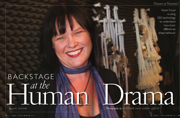 Neurocognition of Language Lab Featured In TC Today Article: Backstage at the Human Drama