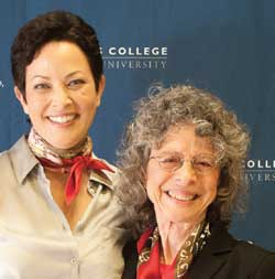 Ellie Krieger with Isobel Contento