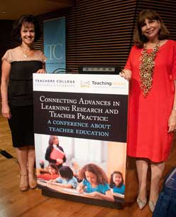 Deborah Loewenberg Ball and TC President Susan Fuhrman (right)