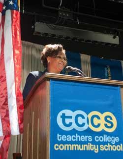 TCCS Principal Jeanene Worrell-Breeden (Photographer: Heather Van Uxem Lewis)