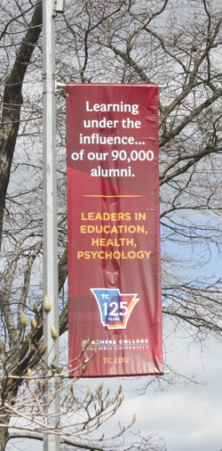 Banners staking some of TC's many claims to fame (Photo by Matt Vincent)