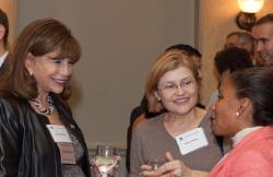 TC President Susan Fuhrman (left), Dilara Walker (M.A.