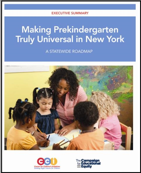 CCE and CCI release groundbreaking statewide pre-K roadmap.