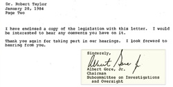 A letter from Al Gore to Robert Taylor (Part 2)