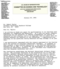 A letter from Al Gore to Robert Taylor (Part 1)