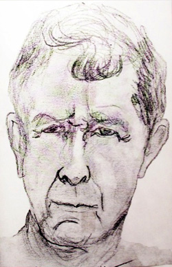 A self portrait drawn by Robert Taylor