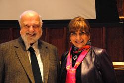 Frederick Erickson (Professor Emeritus, UCLA) and TC President Susan Fuhrman