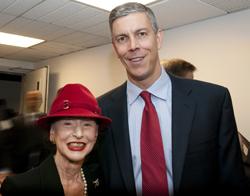 Phyllis Kossoff and Arne Duncan