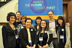 Psychoanalytic Fair participants, from left: Mary Birarelli,Michael Levy, Marianne Tramelli,Aurelie Athan,Marie Hansen,Naomi Naiztat, Matthew Blanchard and Megha Sardana