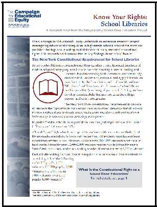 Know Your Educational Rights Handout: School Libraries