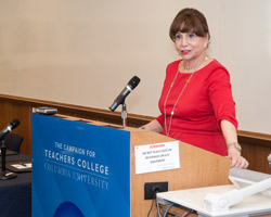 President Fuhrman at IALS conference (Photo by Heather Van Uxem Lewis)
