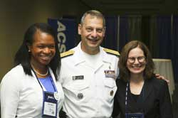 Garber (right) with Acting Surgeon General RADM Boris Lushniak and Diversity Leadership Program Chair Dr. NiCole Keith.