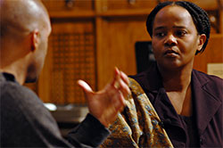 Author Edwidge Danticat with Project Citizen host Kelvin Sealy