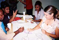 Teachers participating in an NTA workshop, which are designed to help retain new teachers in public schools in NYC and across the country.