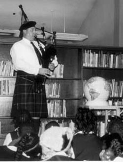 The Magic Bagpipes at Milbank Library