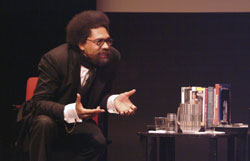 Cornel West spoke to a capacity crowd at Columbia