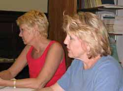 Ginna Crowe Hamilton and Debra France of the outgoing AEGIS Cohort.