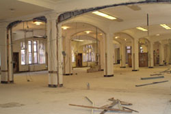The third floor of the Gottesman Libraries has been gutted in preparation for renovation.