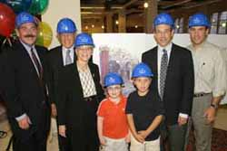 "President Arthur Levine joins David ""Sandy"" and Ruth Gottesman, and their friend Yoni Nachmany, grandson Zachary Zuckerman, son Robert W. Gottesman, and son-in-law Laurence Zuckerman."