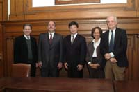 Chiu Chi-Yuan, President of Geda, with Professor Hill and TC administrators
