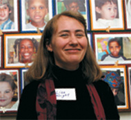 Lisa Wright, Director of the Hollingworth Center for the Stuidy and Eduation of the Gifted, at the showcase.
