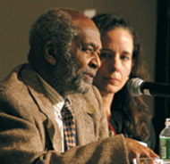 Panelists Edmund Gordon and Amy Stuart Wells.