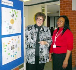 Judith Cramer, Artist-in-Residence, and Patricia Davies, High School Computer Head of Department