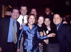 Pearl Kane (center) surrounded by Klingenstein Fellows.