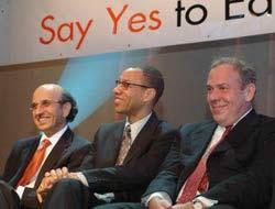 Joe Klein, Mayor Dennis Walcott, Arthur Levine