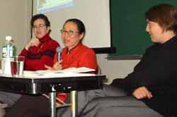 Colette Mazzucelli, Sakiko Fukuda-Parr and Julia Wanjiru at TC Muses Seminar and Videoconference.