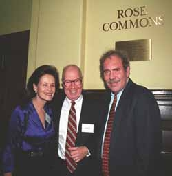 Susan and Elihu Rose with President Levine.