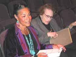 Sarah Lawrence-Lightfoot with Maxine Greene at her lecture.