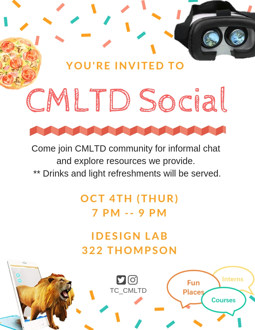 CMLTD Social, Mingle and have fun. This is open to all CMLTD community.